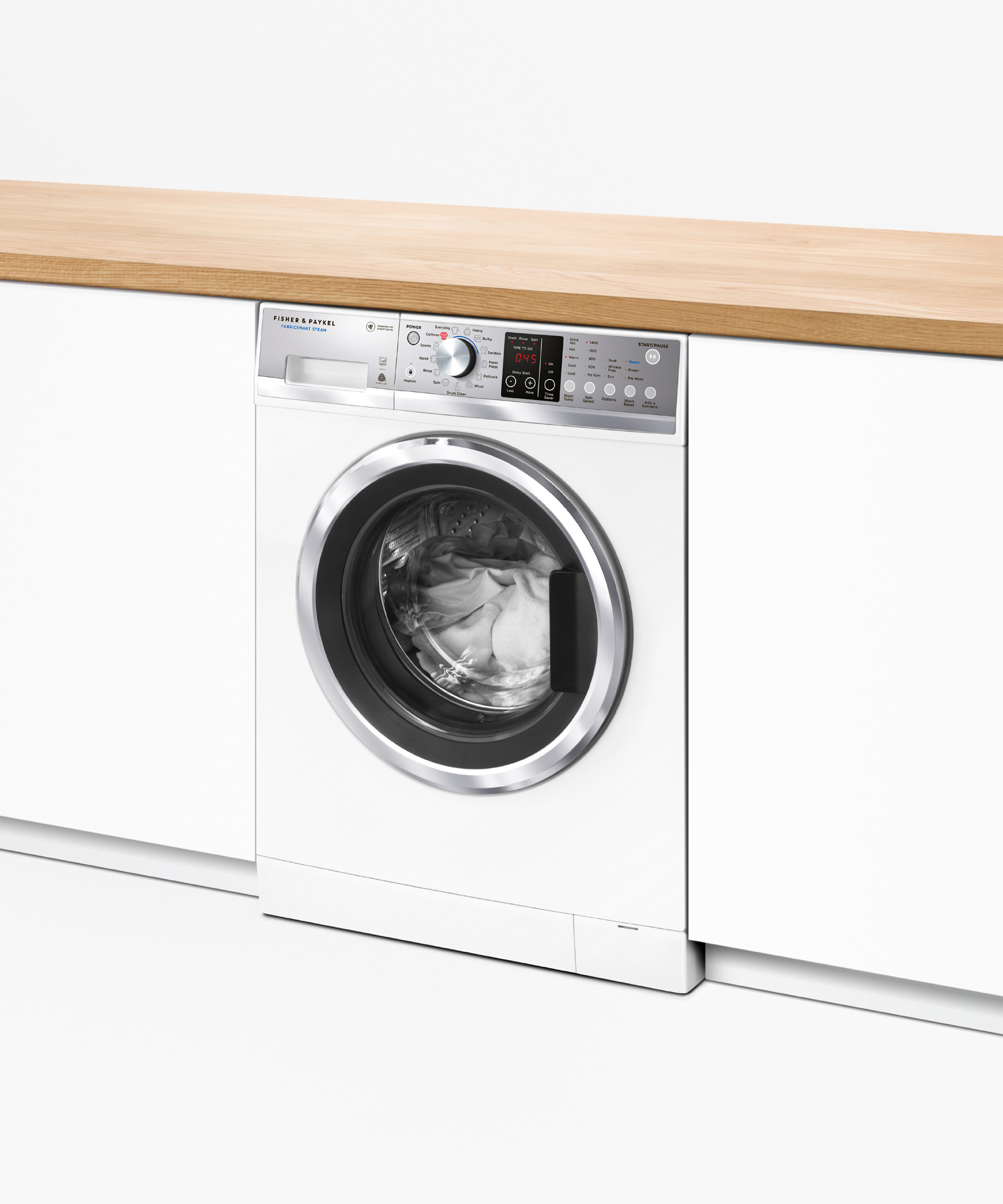 Model: WH2424F1 | Fisher and Paykel Front Load Washer, 2.4 cu ft, Time Saver