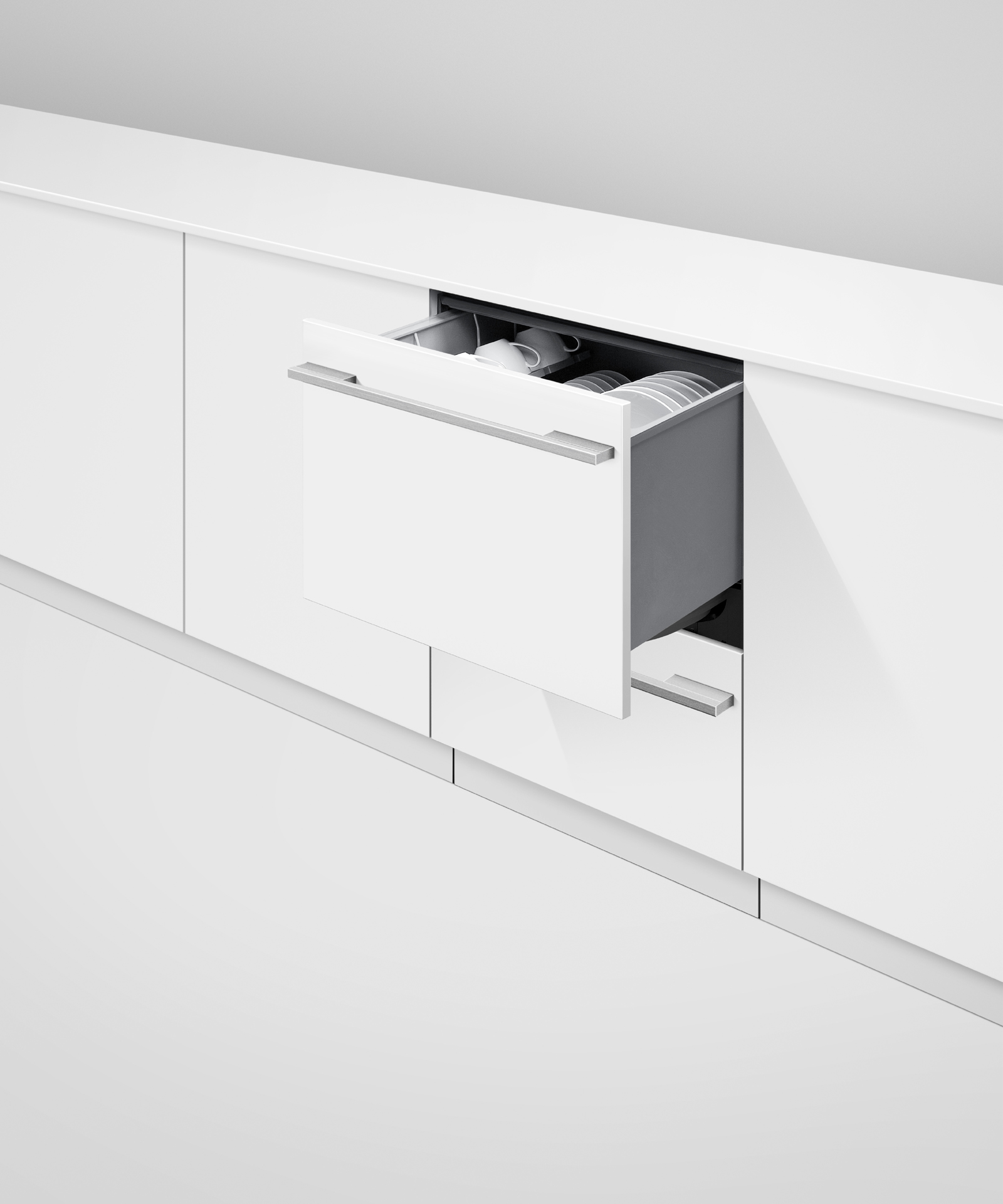 Model: DD24DTI9 N | Fisher and Paykel Integrated Double DishDrawer™ Dishwasher, Tall, Sanitize