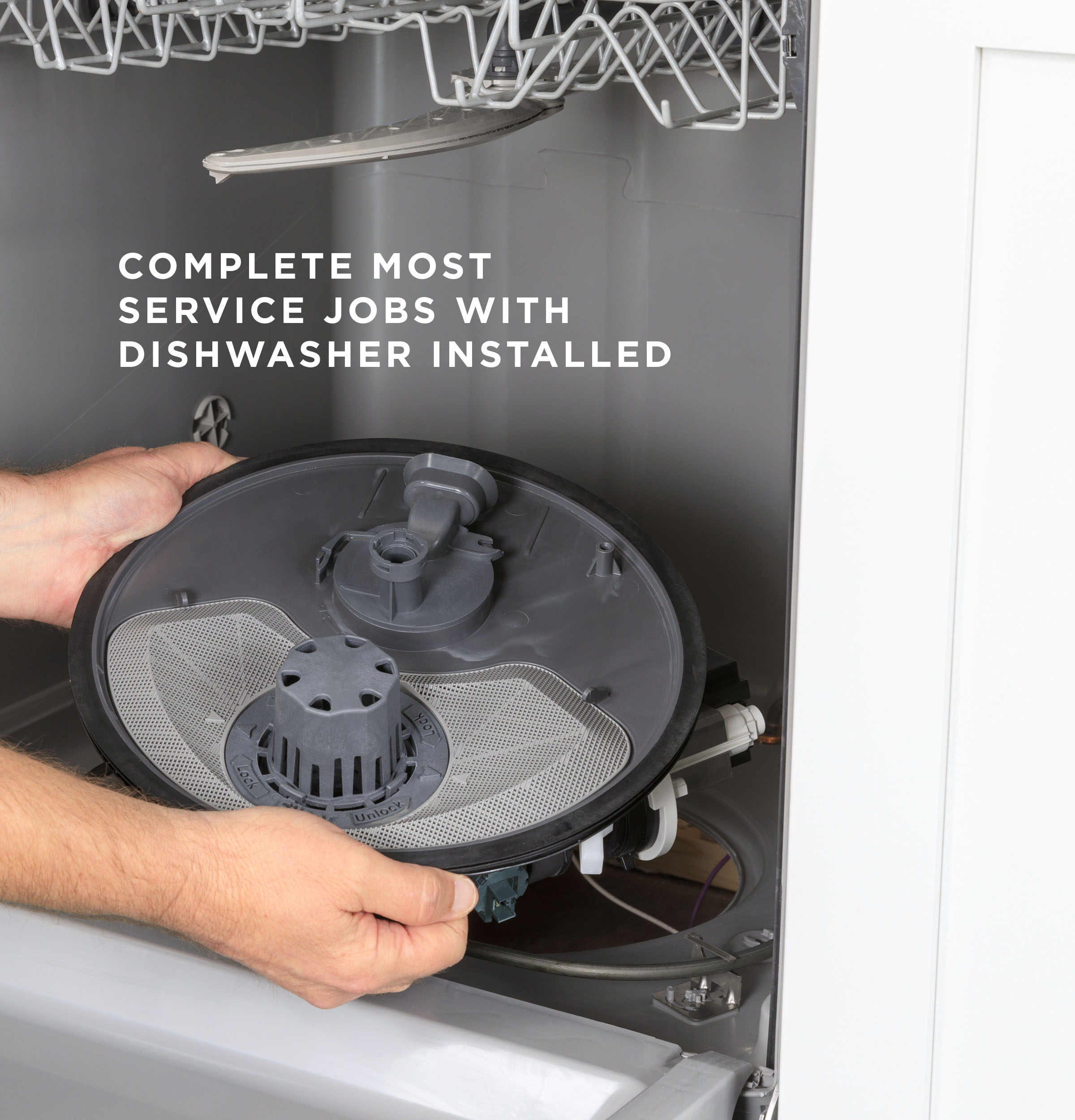 Model: GDF510PGRWW | GE GE® Dishwasher with Front Controls