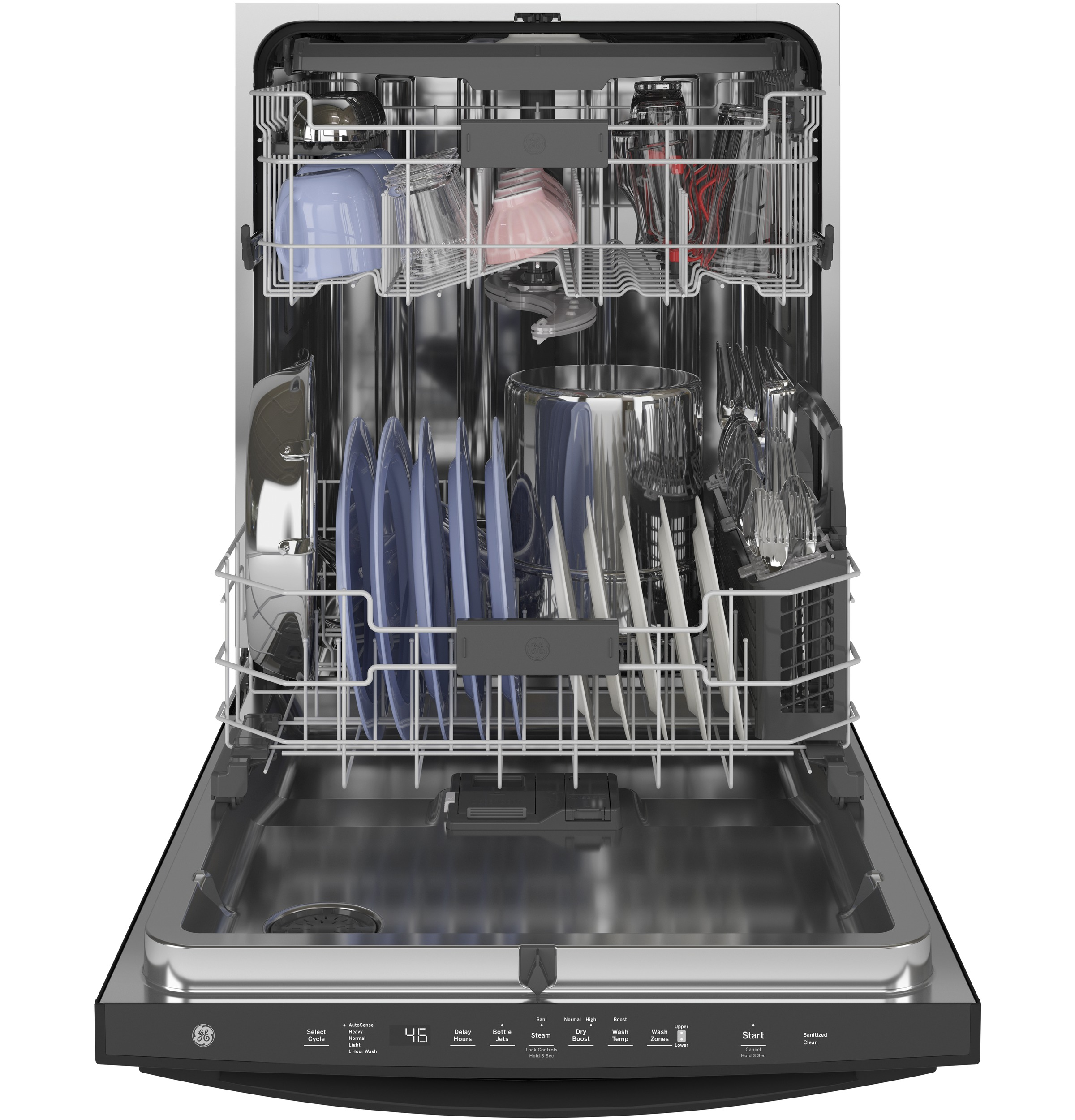 Model: GDT665SGNBB | GE GE® Top Control with Stainless Steel Interior Dishwasher with Sanitize Cycle & Dry Boost with Fan Assist