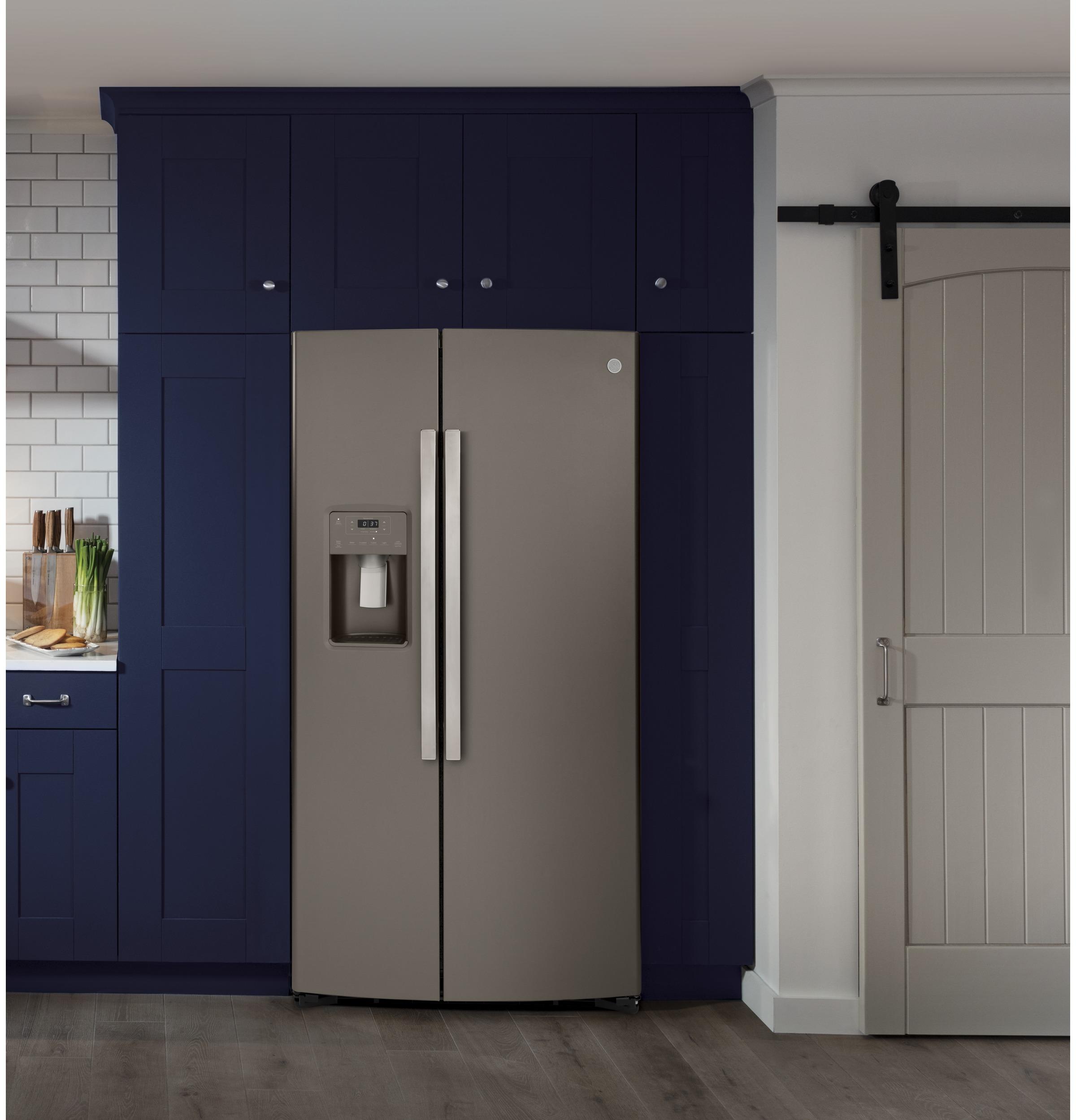 Model: GSS25IMNES   GE GE® 25.1 Cu. Ft. Side-By-Side Refrigerator