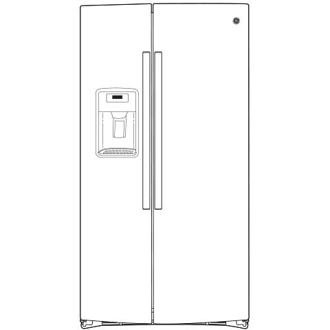 Model: GSS25IENDS   GE GE® 25.1 Cu. Ft. Side-By-Side Refrigerator