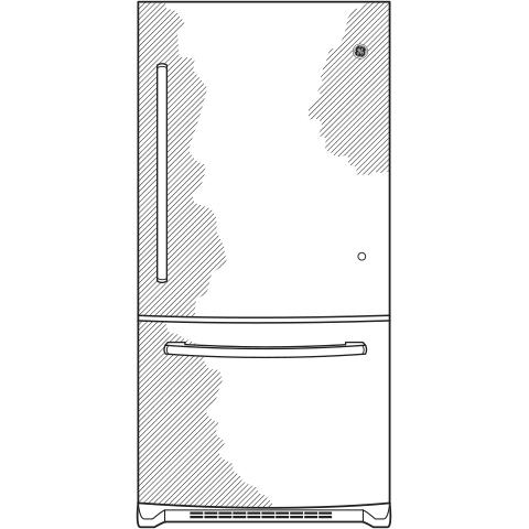 Model: GBE21DSKSS   GE GE® ENERGY STAR® 21.0 Cu. Ft. Bottom-Freezer Refrigerator