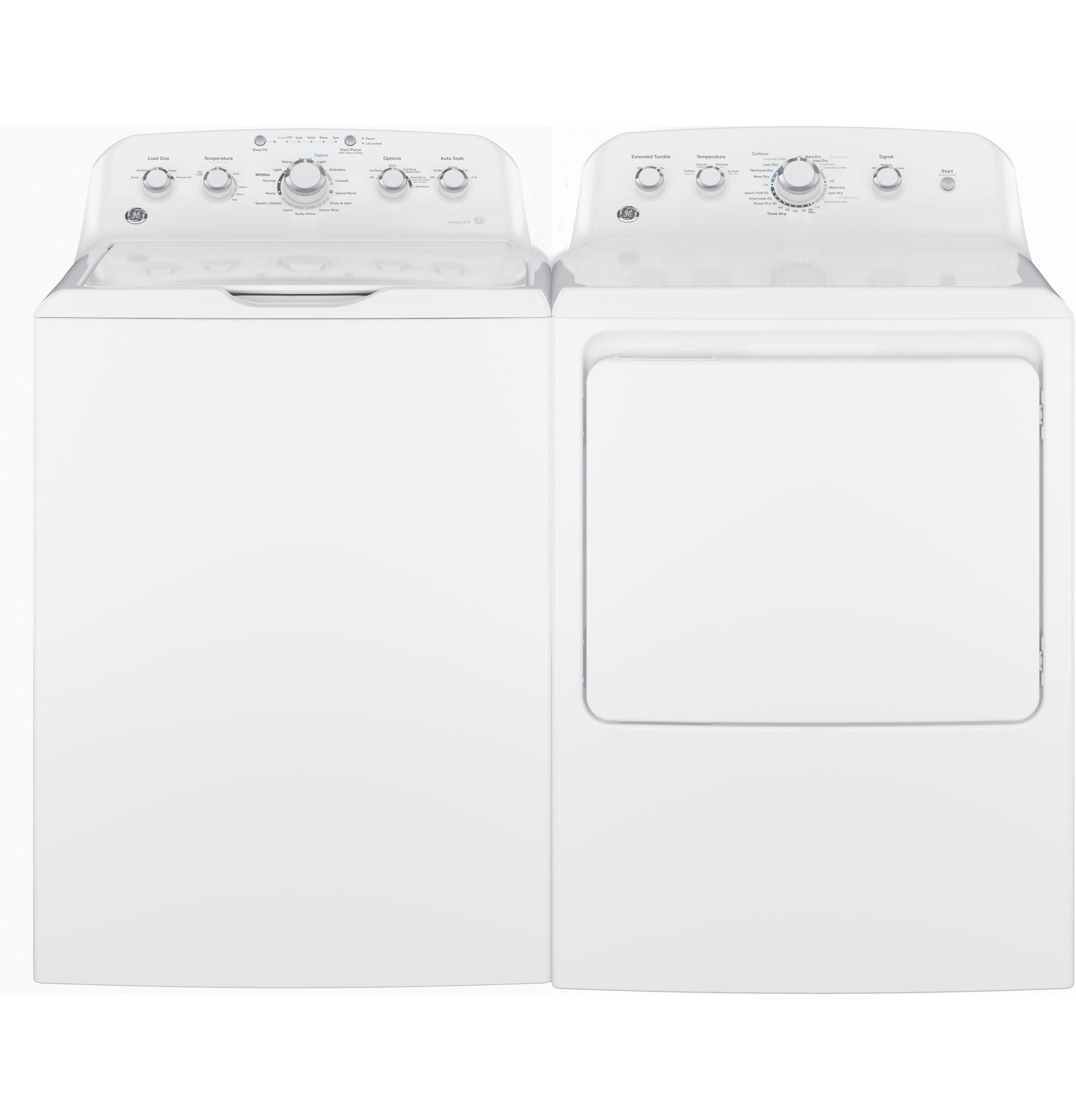 Model: GTD42GASJWW   GE GE® 7.2 cu. ft. Capacity aluminized alloy drum Gas Dryer