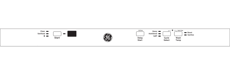 Model: GDT225SGLBB | GE GE® ADA Compliant Stainless Steel Interior Dishwasher with Sanitize Cycle