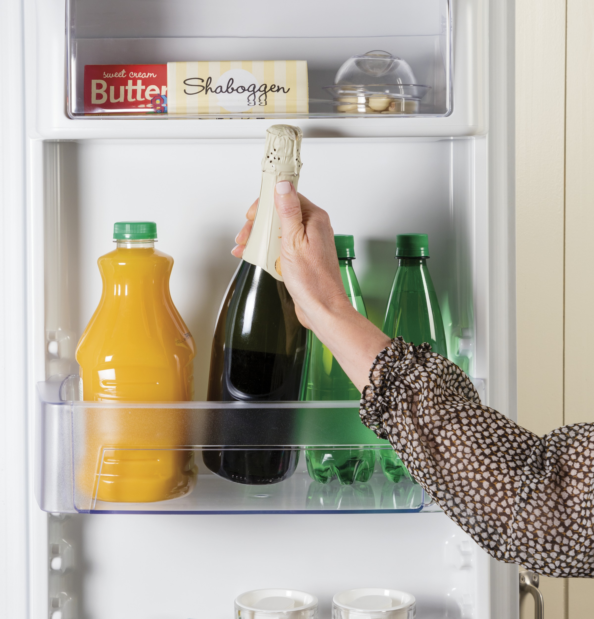 Model: GZS22IMNES | GE GE® 21.8 Cu. Ft. Counter-Depth Side-By-Side Refrigerator