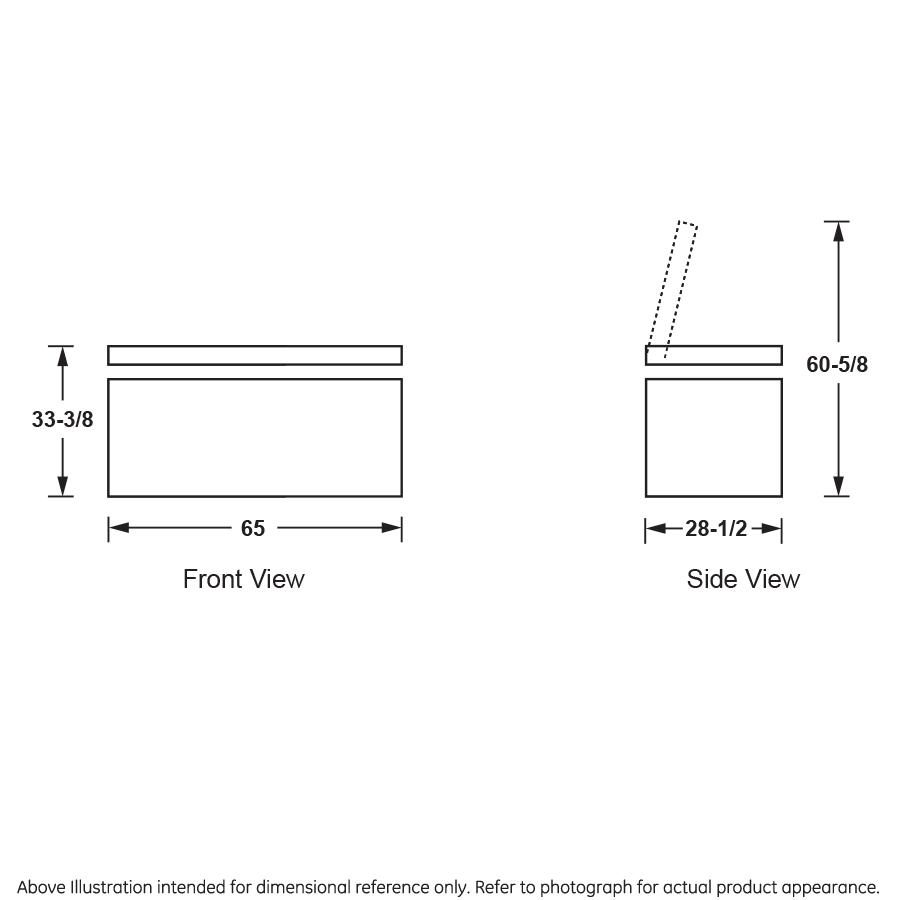 Model: FCM16SLWW | GE GE® 15.7 Cu. Ft. Manual Defrost Chest Freezer