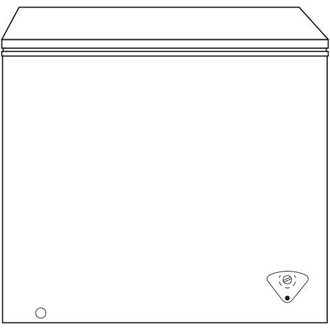Model: FCM7SKWW   GE GE® 7.0 Cu. Ft. Manual Defrost Chest Freezer