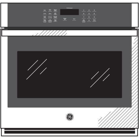 "Model: JKS3000DNBB   GE GE® 27"" Smart Built-In Single Wall Oven"