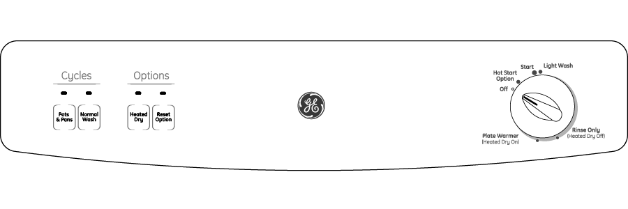 Model: GSM2200VBB | GE GE Spacemaker® Under-the-Sink Dishwasher