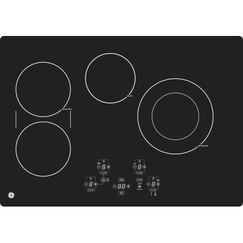 "Model: JP5030DJBB | GE GE® 30"" Built-In Touch Control Electric Cooktop"