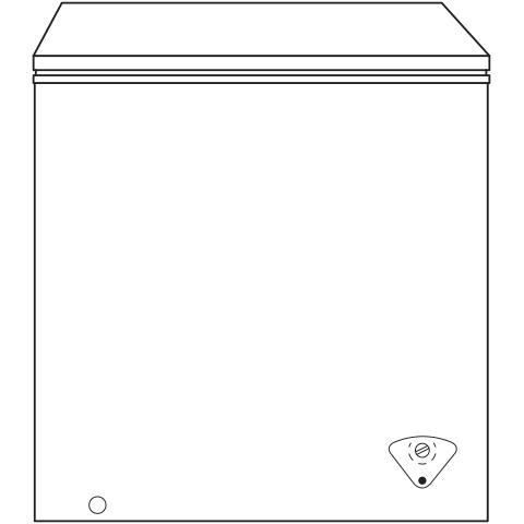 Model: FCM5SKWW | GE GE® 5.0 Cu. Ft. Manual Defrost Chest Freezer