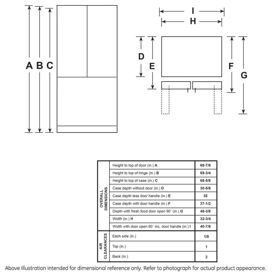 Model: GFE24JSKSS | GE GE® ENERGY STAR® 23.6 Cu. Ft. French-Door Refrigerator
