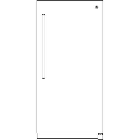 Model: FUF21SMRWW | GE GE® 21.3 Cu. Ft. Frost-Free Garage Ready Upright Freezer