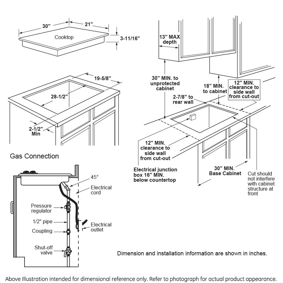 "Model: JGP5030SLSS | GE GE® 30"" Built-In Gas Cooktop with 5 Burners and Dishwasher Safe Grates"