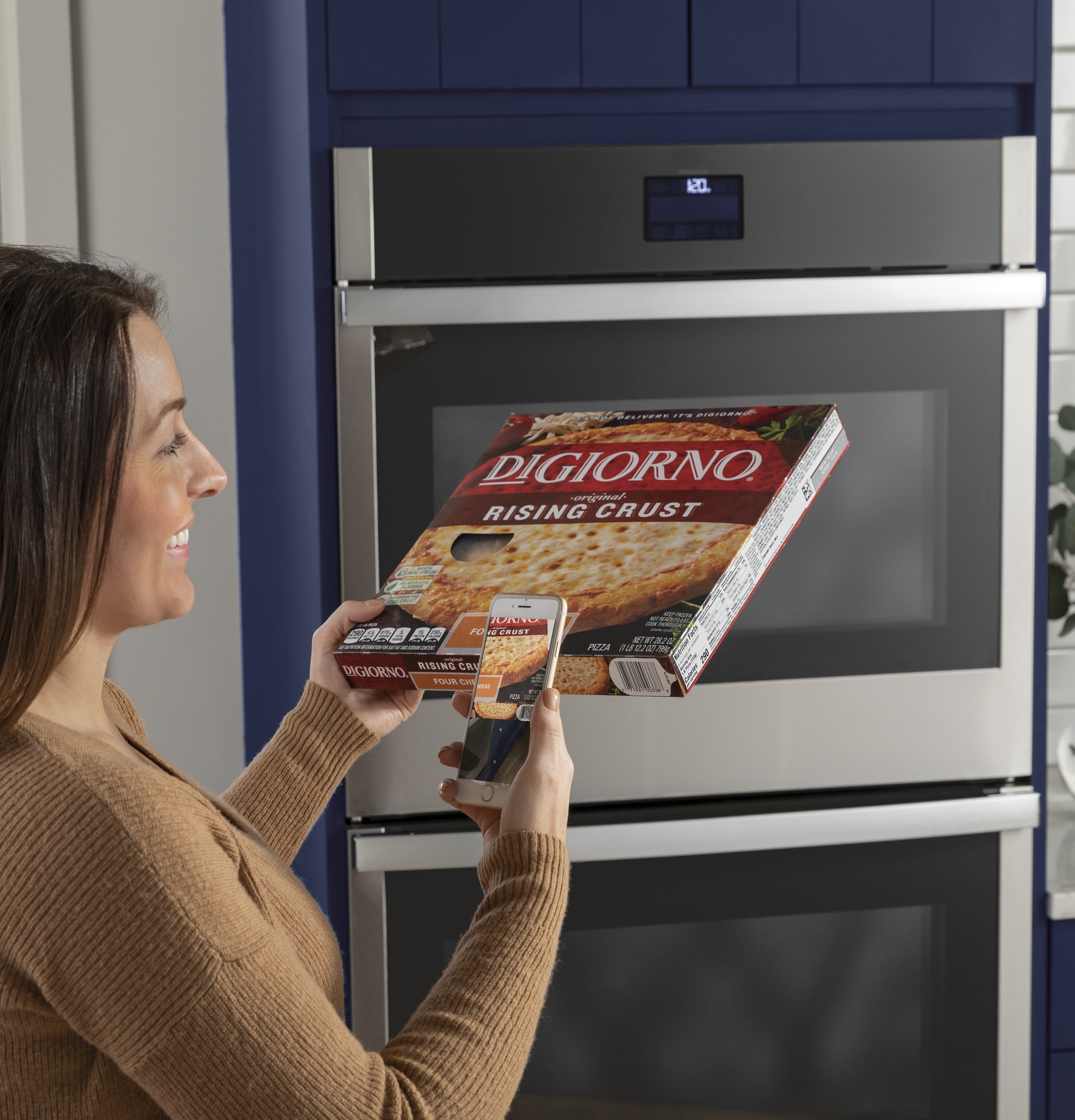 """Model: JTD3000SNSS   GE GE® 30"""" Smart Built-In Self-Clean Double Wall Oven with Never-Scrub Racks"""