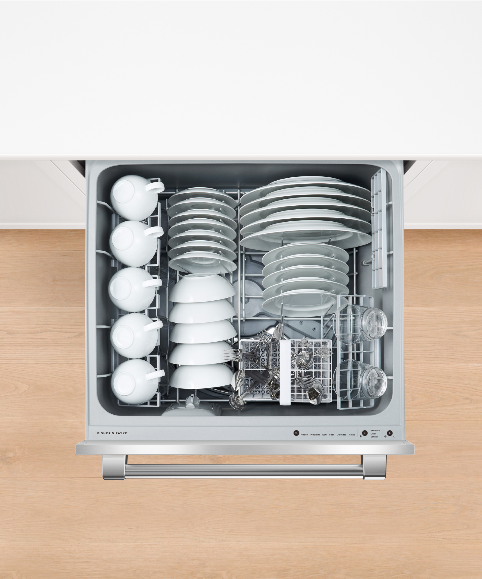 Model: DD24DV2T9_N | Fisher and Paykel Double DishDrawer™ Dishwasher, Tall, Sanitize