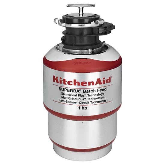 Model: KBDS100T | KitchenAid 1-Horsepower  Batch Feed Food Waste Disposer