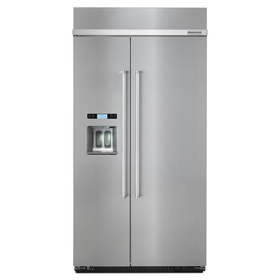 Model: KBSD602ESS | KitchenAid 25.0 cu. ft 42-Inch Width Built-In Side by Side Refrigerator with PrintShield™ Finish