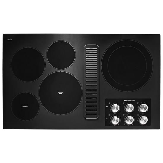 """KitchenAid 36"""" Electric Downdraft Cooktop with 5 Elements"""