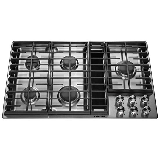 "KitchenAid 36"" 5 Burner Gas Downdraft Cooktop"
