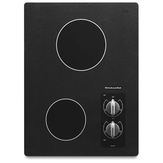 """KitchenAid 15"""" Electric Cooktop with 2 Radiant Elements"""