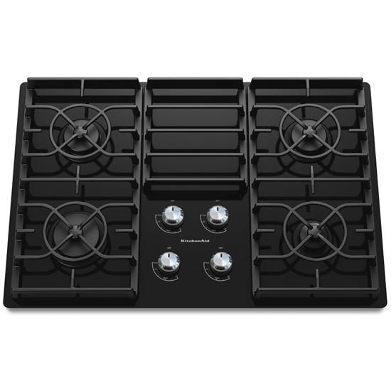 Model: KGCC506RBL   KitchenAid 30-Inch 4 Burner Gas Cooktop, Architect® Series II
