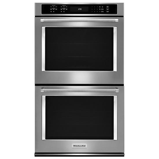 """KitchenAid 30"""" Double Wall Oven with Even-Heat™ True Convection"""