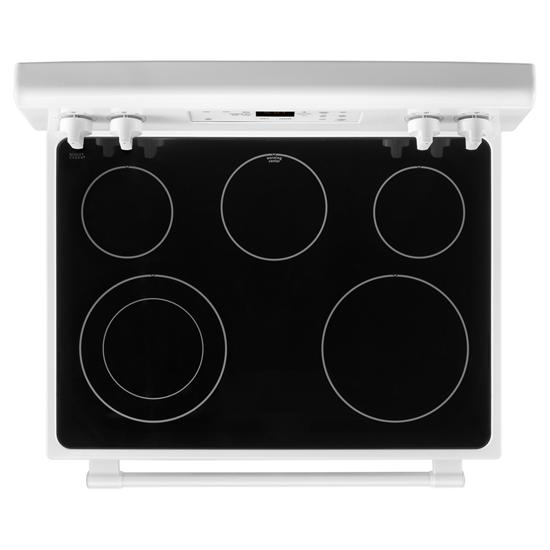 Model: MER6600FW   Maytag 30-Inch Wide Electric Range With Shatter-Resistant Cooktop - 5.3 Cu. Ft.