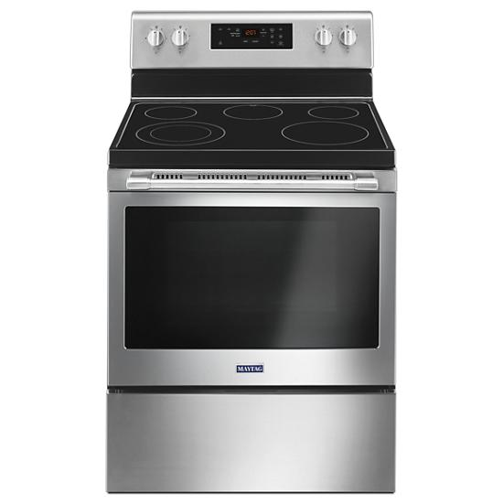 Model: MER6600FZ | Maytag 30-Inch Wide Electric Range With Shatter-Resistant Cooktop - 5.3 Cu. Ft.