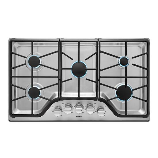 Maytag 36-inch Wide Gas Cooktop with DuraGuard™ Protective Finish