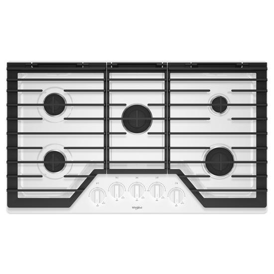 Whirlpool 36-inch Gas Cooktop with EZ-2-Lift™ Hinged Cast-Iron Grates
