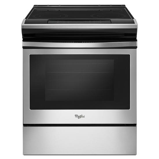 Whirlpool 4.8 cu. ft. Guided Electric Front Control Range With The Easy-Wipe Ceramic Glass Cooktop