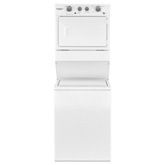Whirlpool 3.5 cu.ft Long Vent Electric Stacked Laundry Center 9 Wash cycles and AutoDry™