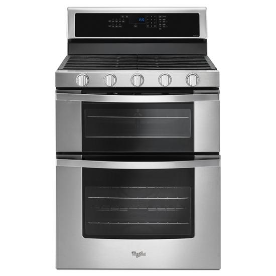 Whirlpool 6.0 Cu. Ft. Gas Double Oven Range with EZ-2-Lift™ Hinged Grates