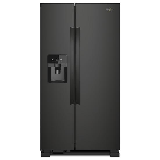Model: WRS321SDHB | Whirlpool 33-inch Wide Side-by-Side Refrigerator - 21 cu. ft.