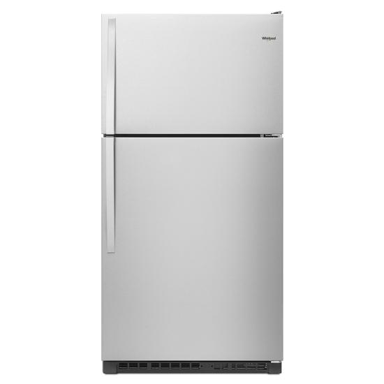 Model: WRT311FZDZ | Whirlpool 33-inch Wide Top Freezer Refrigerator - 20 cu. ft.