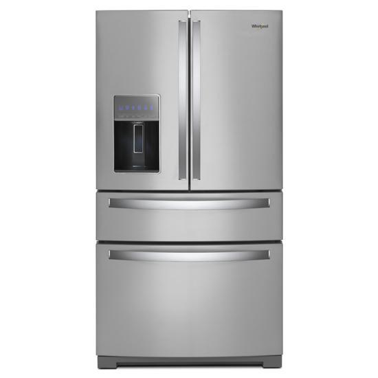Whirlpool 36-inch Wide 4-Door Refrigerator with Exterior Drawer - 26 cu. ft.