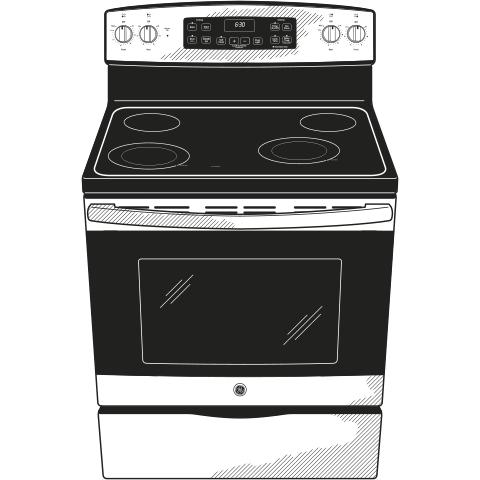 "Model: JB645FKDS | GE GE® 30"" Free-Standing Electric Range"