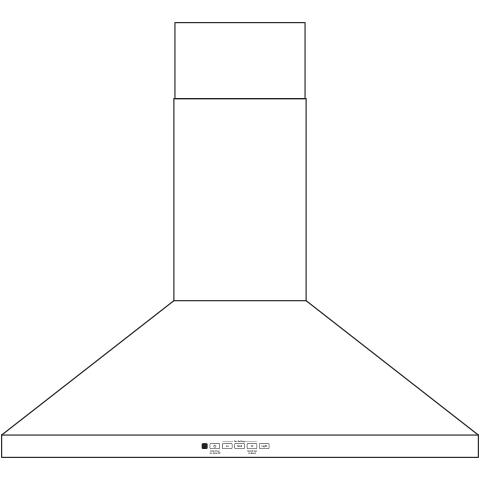 "Model: JVW5301BJTS | GE GE® 30"" Wall-Mount Pyramid Chimney Hood"