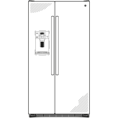 Model: GSS25GSHSS   GE GE® 25.3 Cu. Ft. Side-By-Side Refrigerator