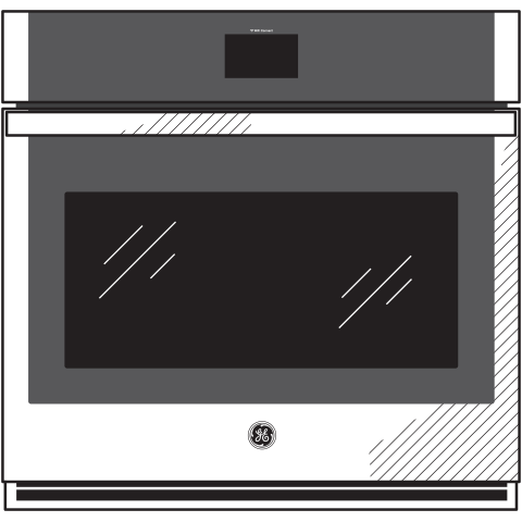 "Model: JKS5000DNWW   GE GE® 27"" Smart Built-In Convection Single Wall Oven"