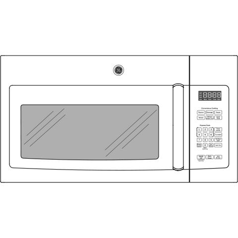 Model: JVM3162DJWW | GE GE® 1.6 Cu. Ft. Over-the-Range Microwave Oven