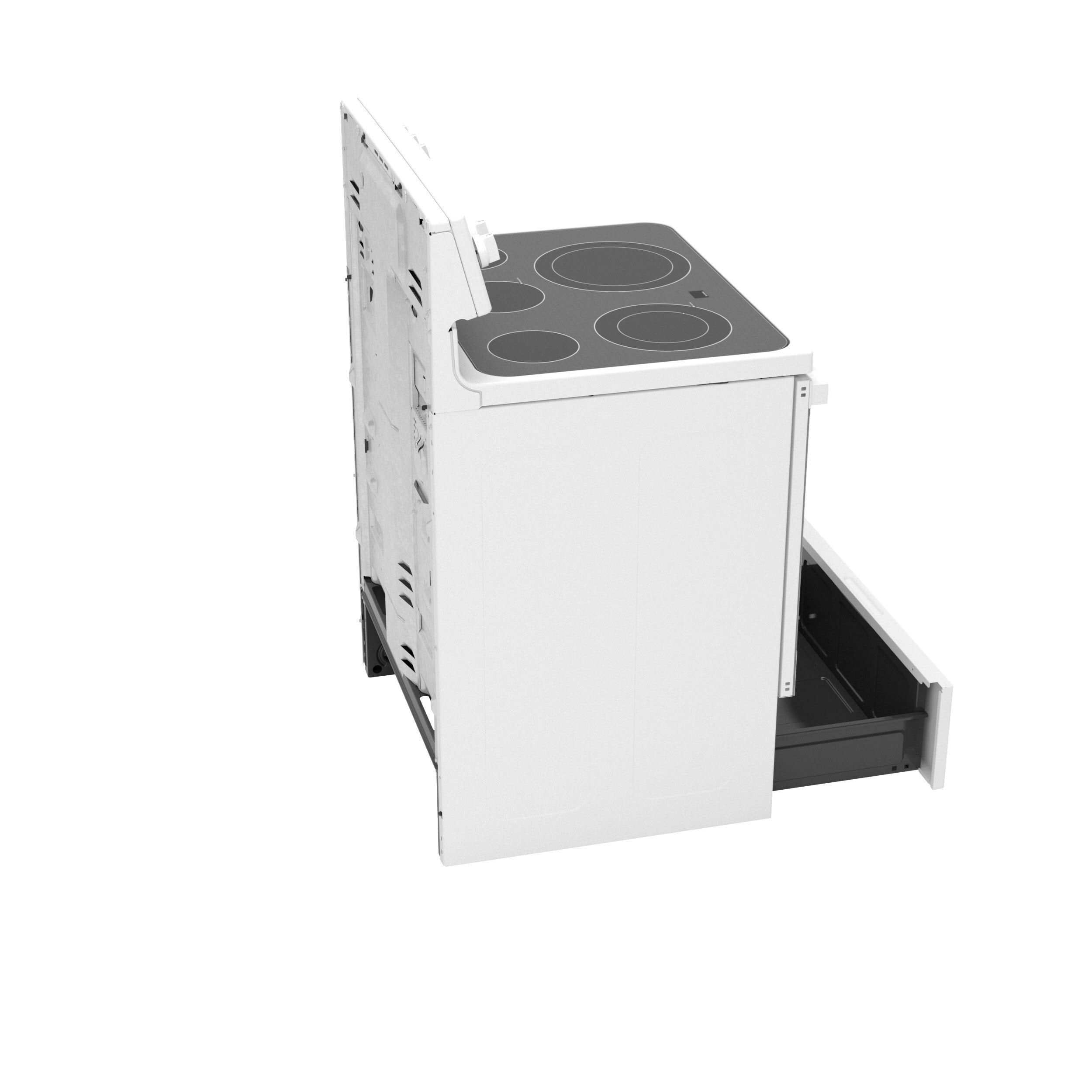 """Model: JB735DPWW   GE GE® 30"""" Free-Standing Electric Convection Range with No Preheat Air Fry"""