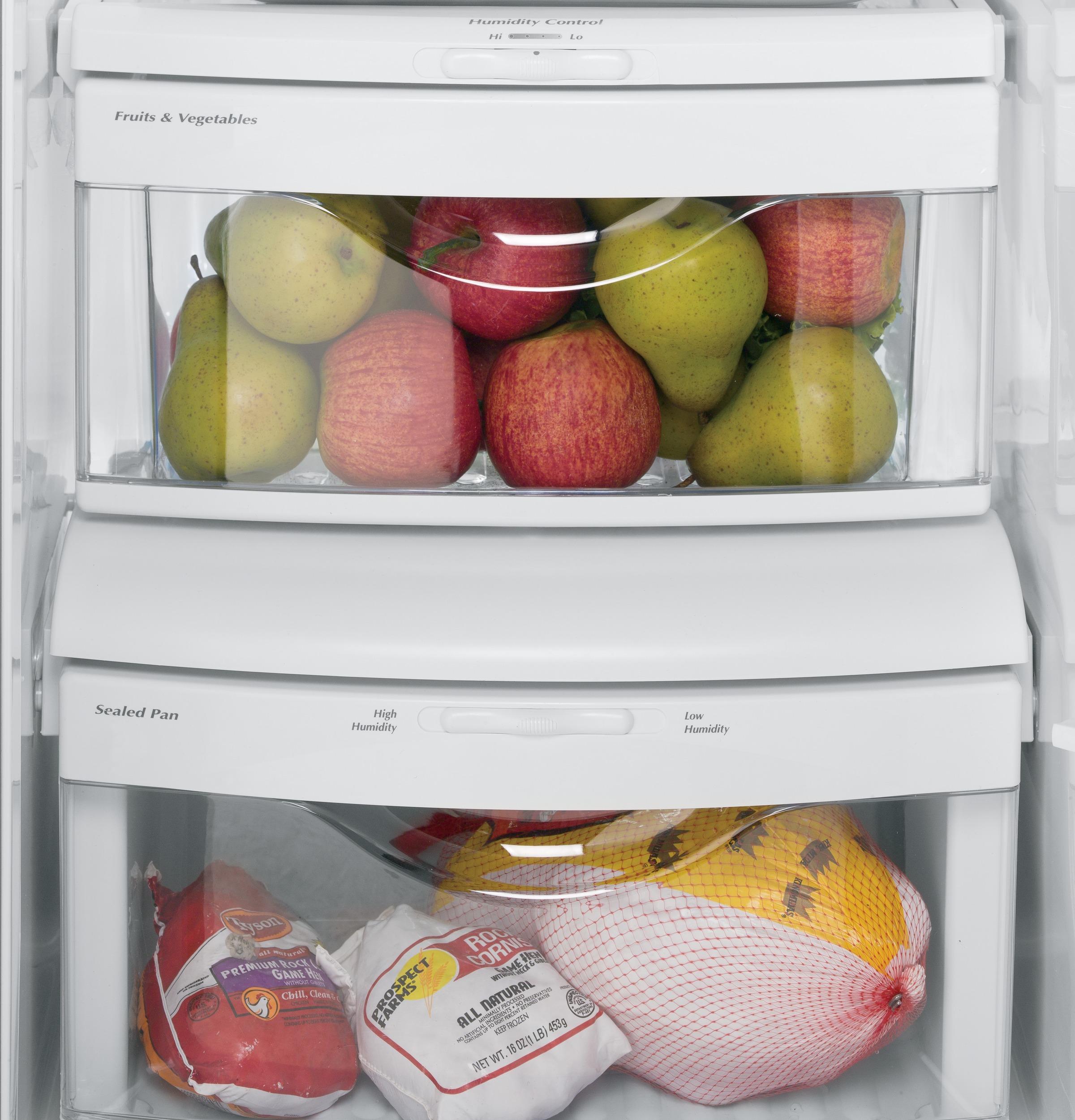 Model: GSS23GGKBB   GE GE® 23.2 Cu. Ft. Side-By-Side Refrigerator