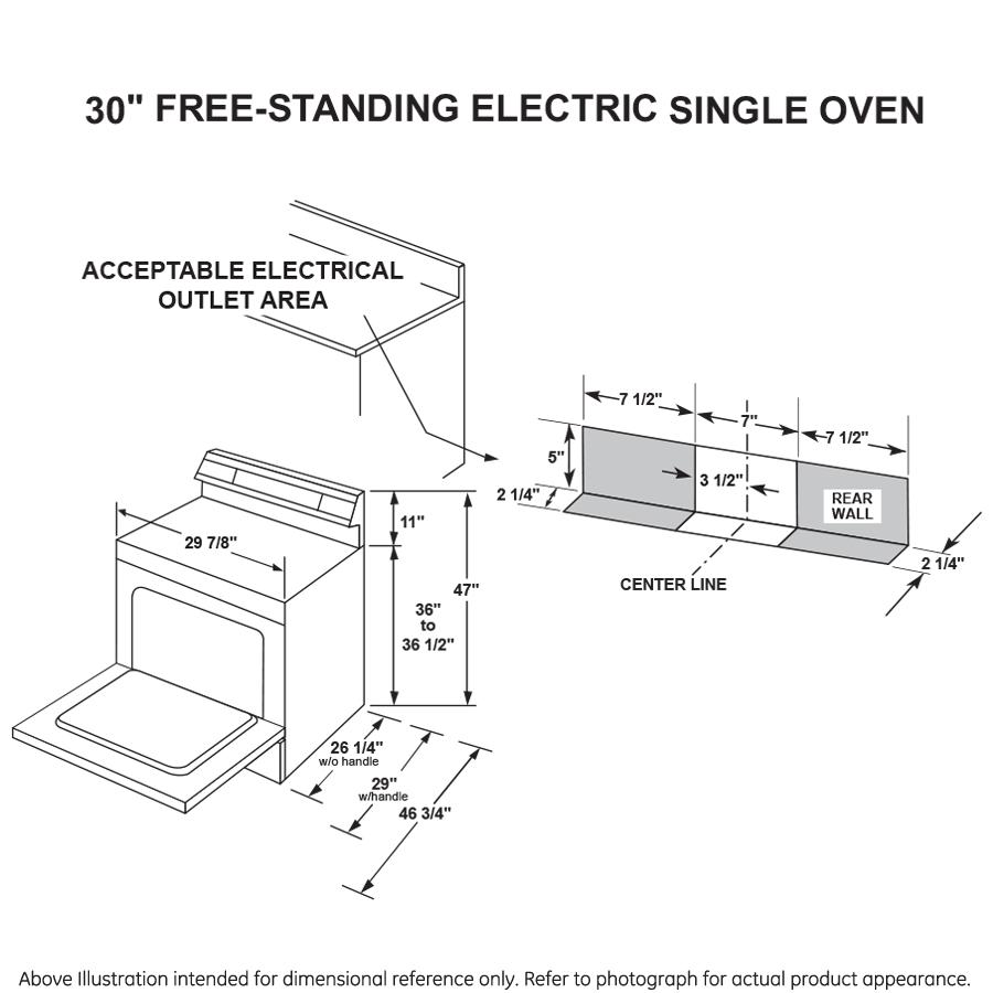 "Model: JB256RMSS   GE GE® 30"" Free-Standing Electric Range"
