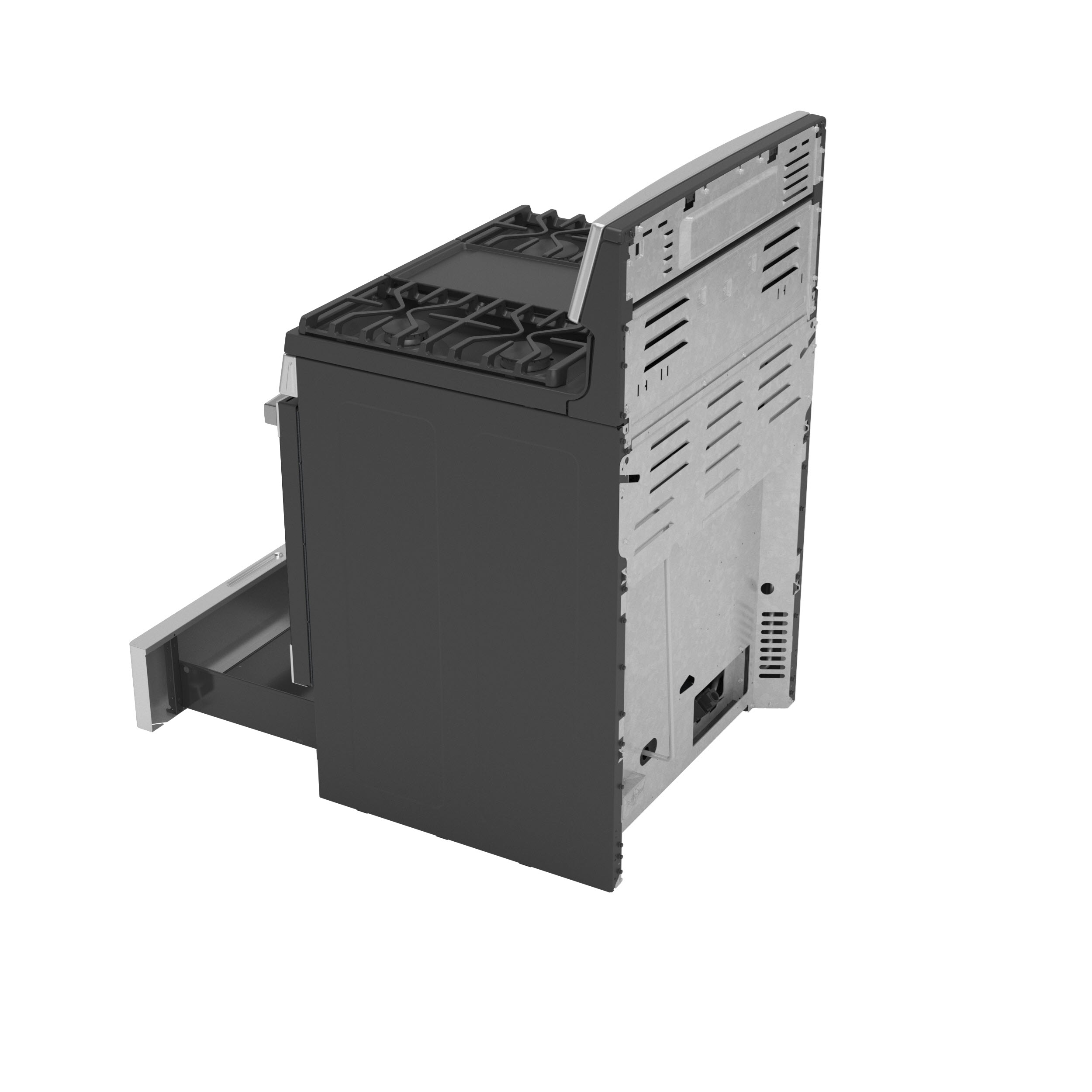 """Model: JGB660YPFS   GE GE® 30"""" Free-Standing Gas Fingerprint Resistant Range"""