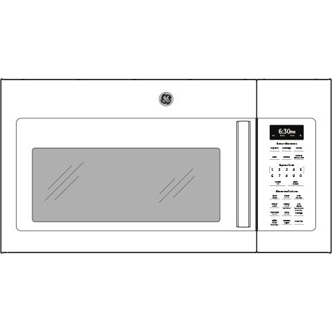 Model: JVM6175DKWW | GE GE® 1.7 Cu. Ft. Over-the-Range Sensor Microwave Oven