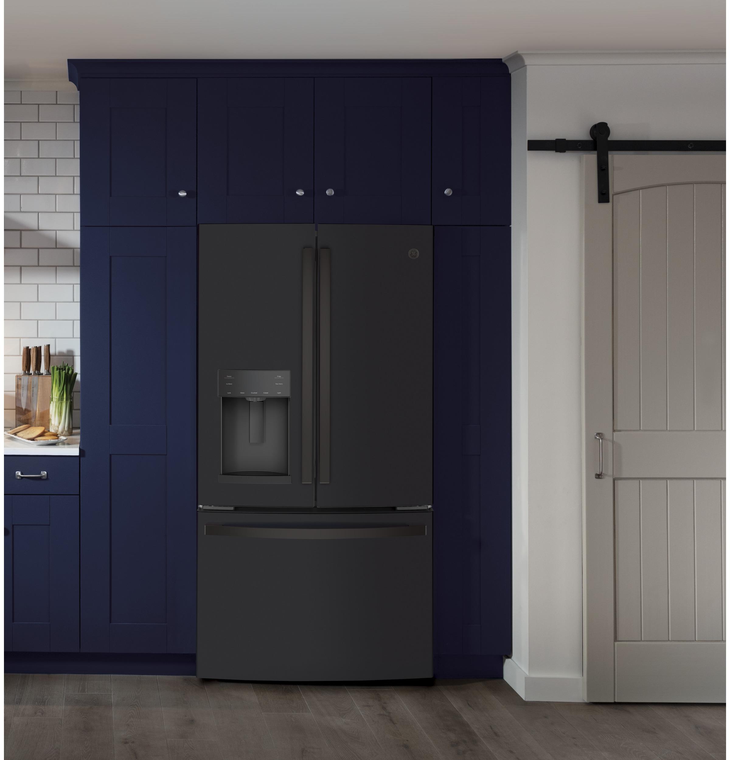 Model: GYE22GENDS | GE GE® ENERGY STAR® 22.1 Cu. Ft. Counter-Depth French-Door Refrigerator