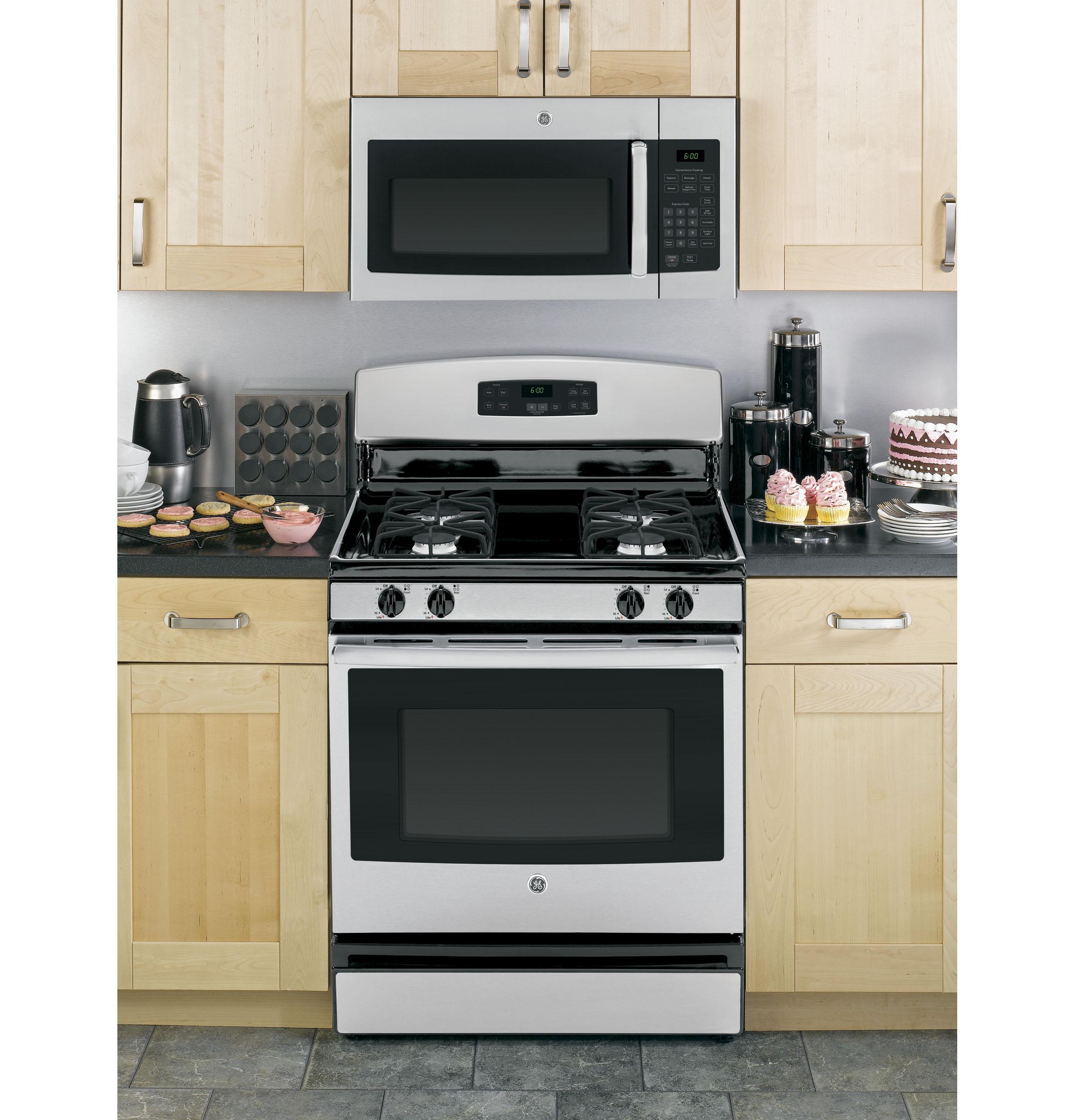 Model: JVM3160RFSS | GE GE® 1.6 Cu. Ft. Over-the-Range Microwave Oven
